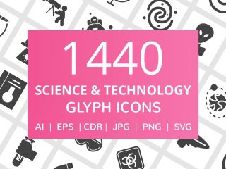 1440 Science & Technology Glyph Icon