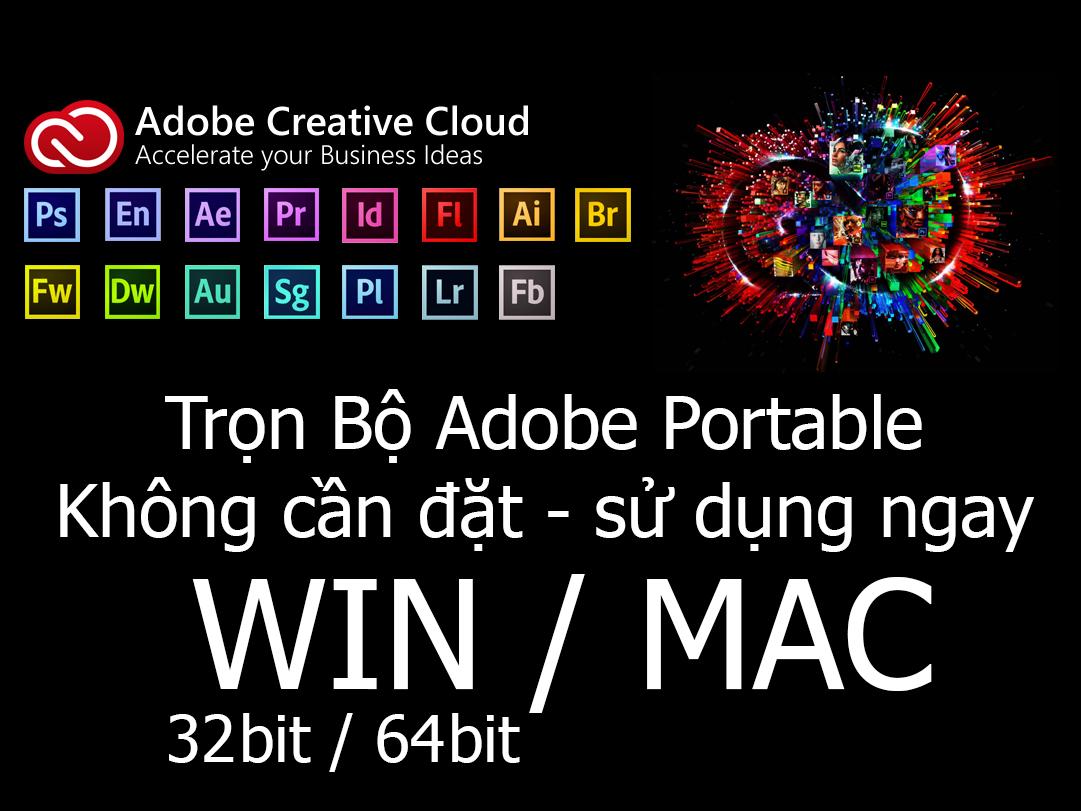 Tổng hợp phần mềm ứng dụng Adobe Portable không cần cài đặt - Kho Đồ Họa