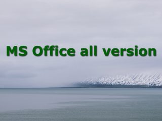 MS Office all version