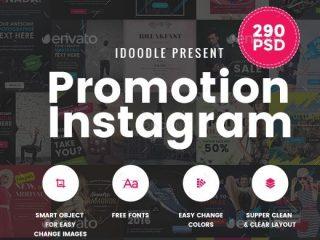 290 file PSD poster quảng cáo siêu đẹp phong cách Instagram