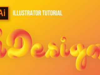 3 Bước tạo hiệu ứng 3D Lettering trong Illustrator