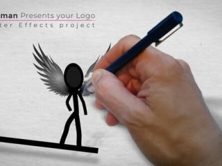 Inkman presents your logo (AE project)