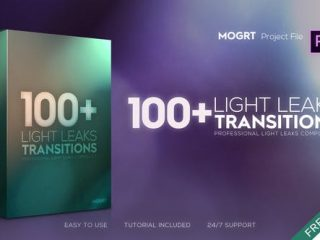 4K Light Leaks Transitions | For Premiere Pro